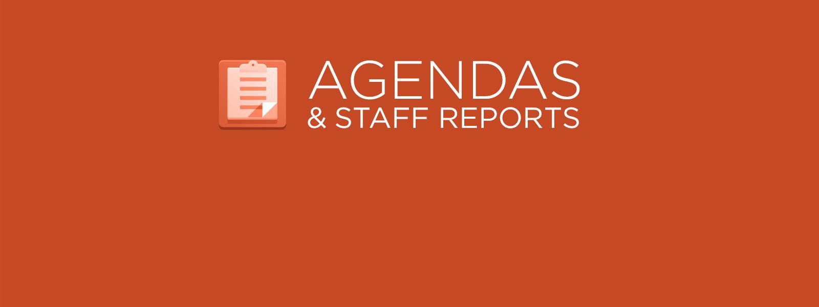 Upcoming agendas