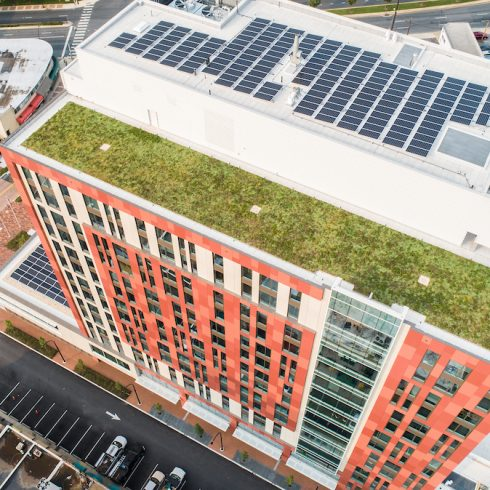 Wheaton HQ roof garden and solar panels